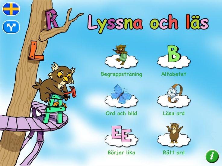 Lyssna på en svensk röst och välj rätt alternativ som syns på skärmen. Appen innehåller 350 substantiv.