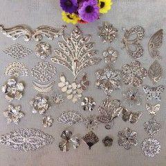 Дешевая древность DIY китайской одежды косплей Боб 35 частей ювелирных материалов шаг встряхивание материала пакет мешок Motif