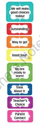 Freebie Rainbow Behavior Clip Chart from Creative Lesson Cafe on TeachersNotebook.com (10 pages)