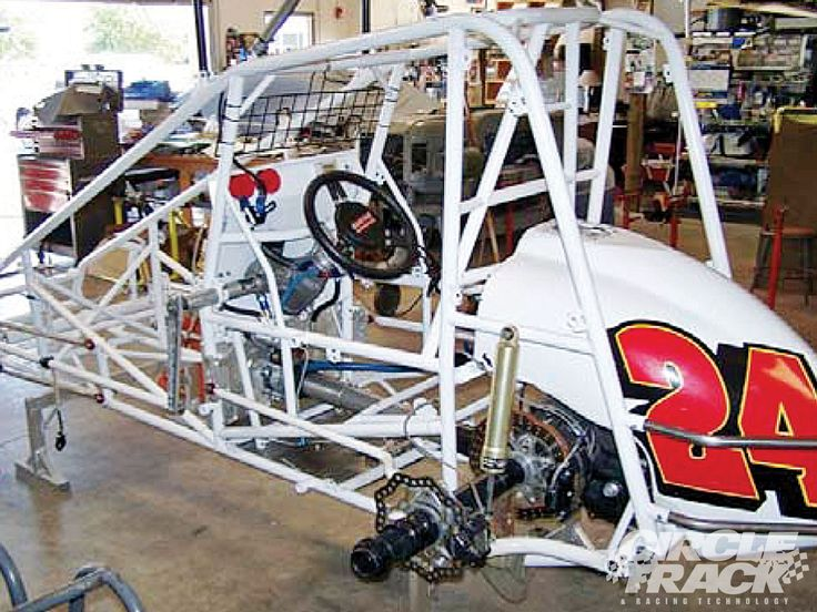 Sprint Car Chassis  Mated To Euro Trash Power Plant