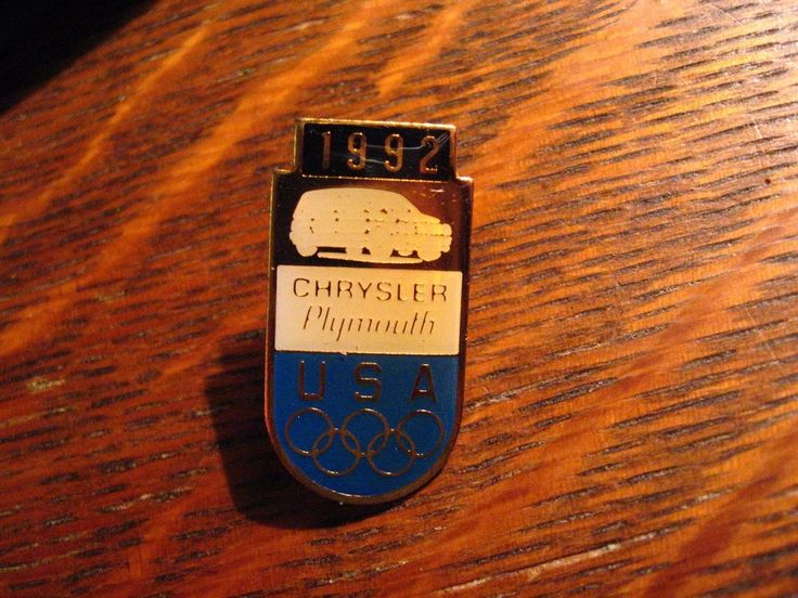 Chrysler Plymouth Olympics Pin - Vintage 1992 Team USA Barcelona Spain Olympic  #ChryslerPlymouth #USA