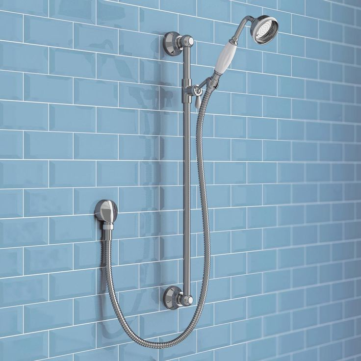 Trafalgar Traditional Shower Slide Rail Kit - Chrome £45