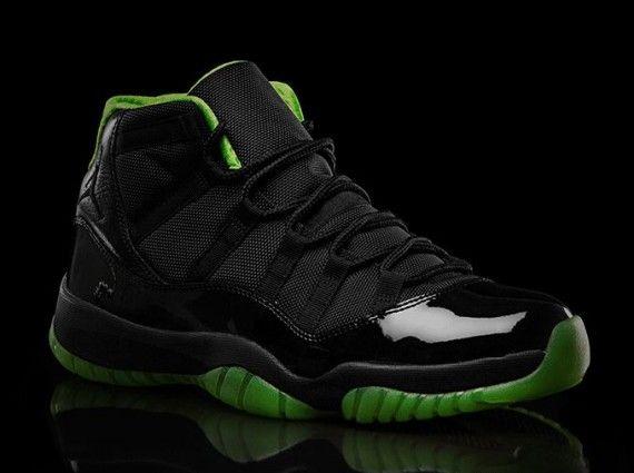 Air Jordan XI Black/Neon Green Collection