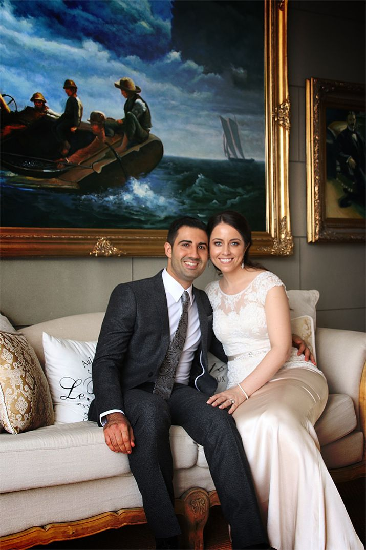 Our wedding day at Campbell Point House.