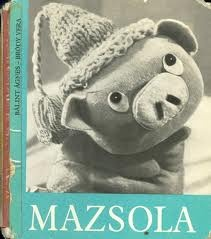 """Mazsola""=""Raisin"" the piggy :) Cute Hungarian retro tale"