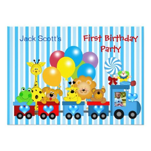 397 best Train Birthday Party Invitations images – Train Birthday Cards