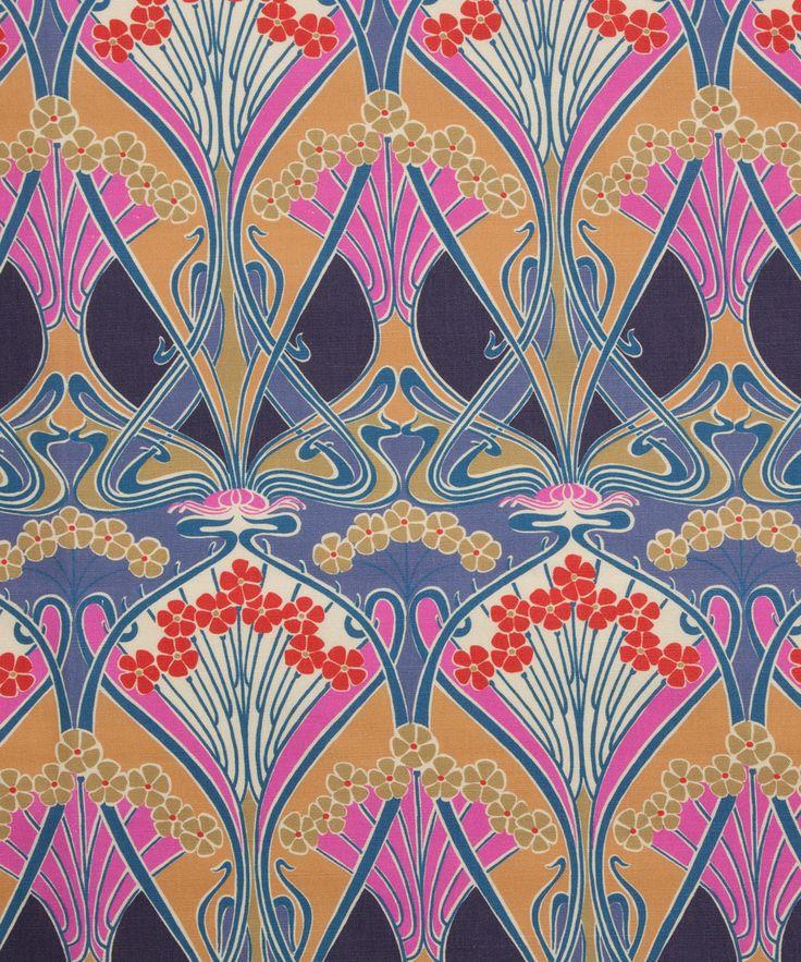 Liberty Furnishing Fabrics Lasenby Ianthe Flower Linen Union