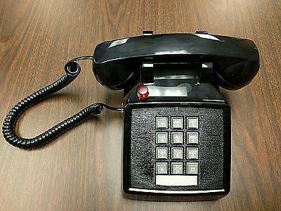 Vintage Cortelco Black Touch-tone Desk Phone Volume Adjuster Handset Red Light