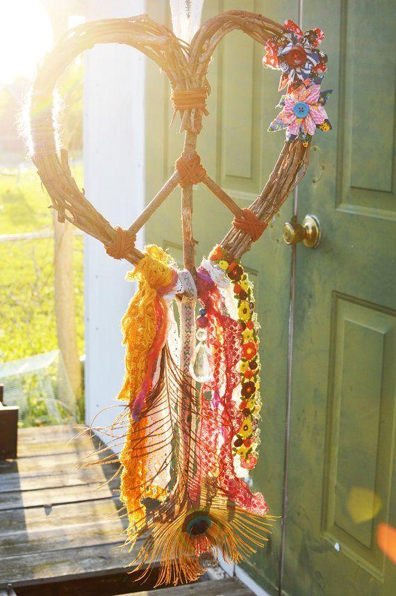 Love Gypsy Heart Wreath Peace Dream Catcher @Caitlin Burton Burton Burton Steele