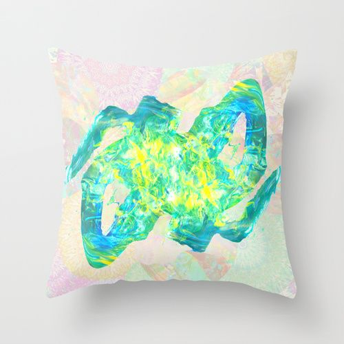 Electric Field Throw Pillow by Peta Herbert | Society6 | $20
