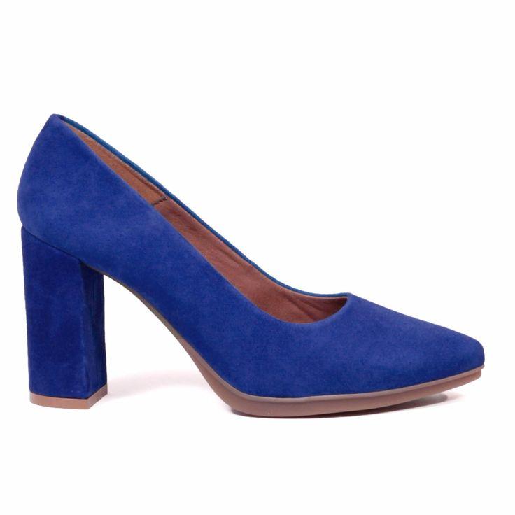 miMaO Urban zapato de salón - Azul Garnacha – Chaussure escarpin urban Bleu Royal - Urban Pump Schuhe  Aubergine