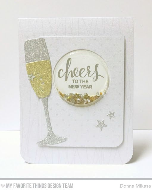 Blueprints 24 Die-namics, Balloon Strings Background, Swiss Dots Background, Layered Champagne Glass Die-namics - Donna Mikasa  #mftstamps