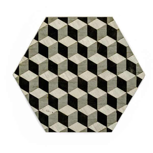6 Grey Placemats Gray Placemats Hexagon Placemats Geometric Place Mats... ($88) ❤ liked on Polyvore featuring home, kitchen & dining, table linens, colored placemats, heat resistant placemats, heat resistant table mats, geometric placemats and grey table mats