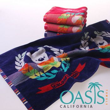 Are you in search of wholesale Funky and Cartooned Kids Beach Towels towels? Pick in bulk from the USA and UK manufacturer and supplier, Oasis Towels. We Ship Worldwide.