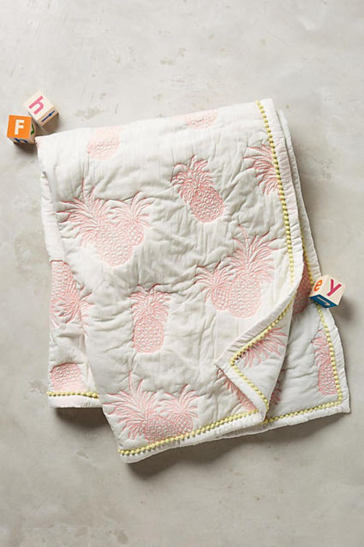 Anthropologie pineapple toddler quilt: http://www.stylemepretty.com/living/2016/04/21/insanely-stylish-kids-stuff-that-adults-secretly-want/
