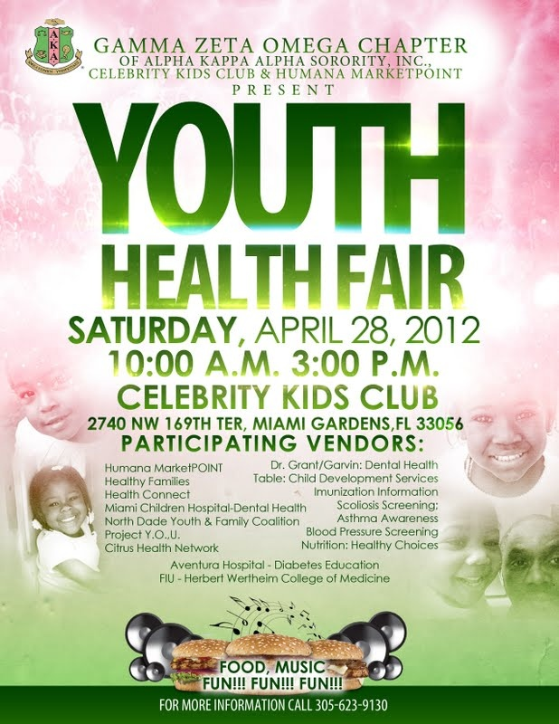 youth health fair saturday april 26 celebrity kids club family