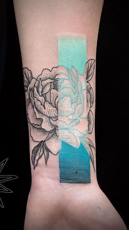 Amazing Peony Tattoo