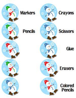 Organized Seasonal Supply Caddies - The Organized Classroom Blog
