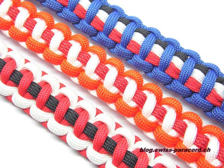 """Diese Armbänder wurden auf Kundenwunsch hergestellt. Es handelt sich um zwei """"Thin Line"""" Armbänder (weiss, rot / schwarz) und eine abgeänderte Version meines """"Reggae"""" Armbands ich nenne es mal """"Tripple Thin Line"""" (royal-blau / schwarz, rot, weiss). Material Thin Line 1.4m Paracord (Farbe 1) 1.4m Paracord (Farbe 2) 0.4m Paracord (Farbe 3 -> Thin Line) …"""