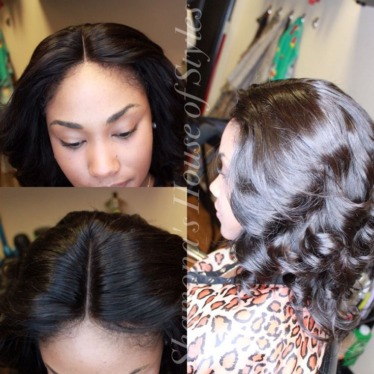 Full Sew In W Lace Front Closure Www Styleseat Com