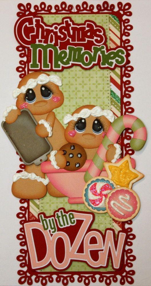 ELITE4U PMBY JULIE CHILD CHRISTMAS border scrapbook layout album paper piecing