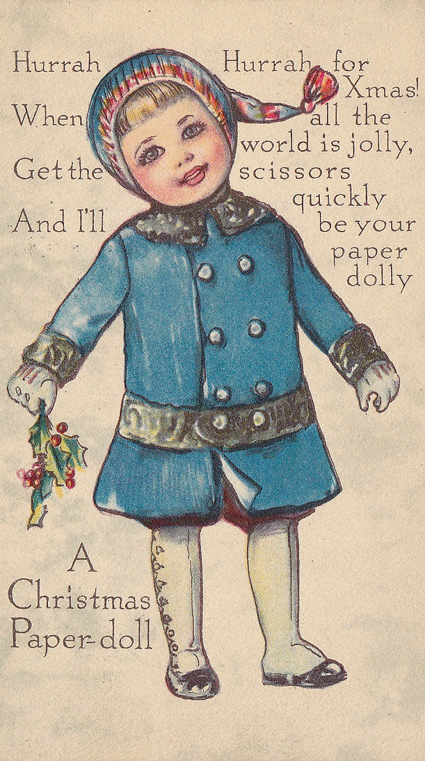 A Christmas Paper Doll