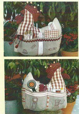 Gallina costurero con patrones