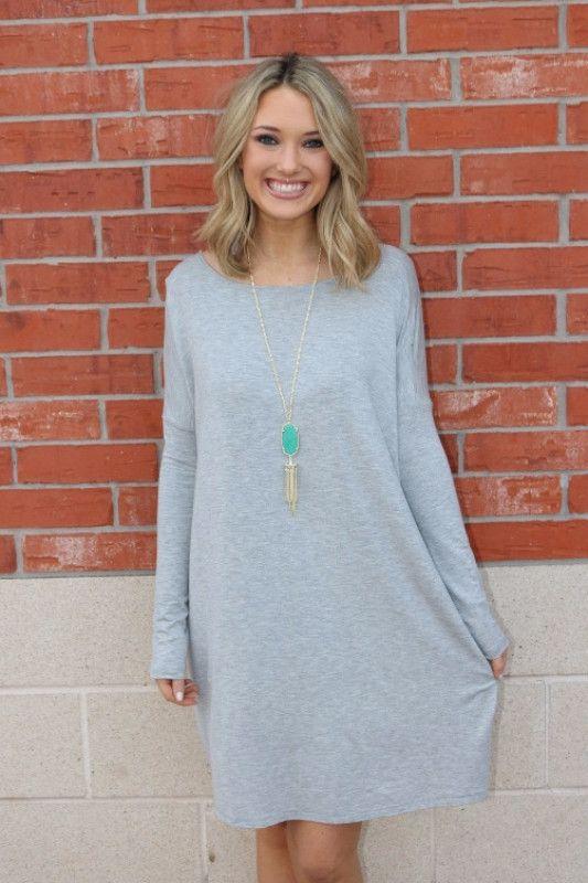 Piko Dress in Heather Grey