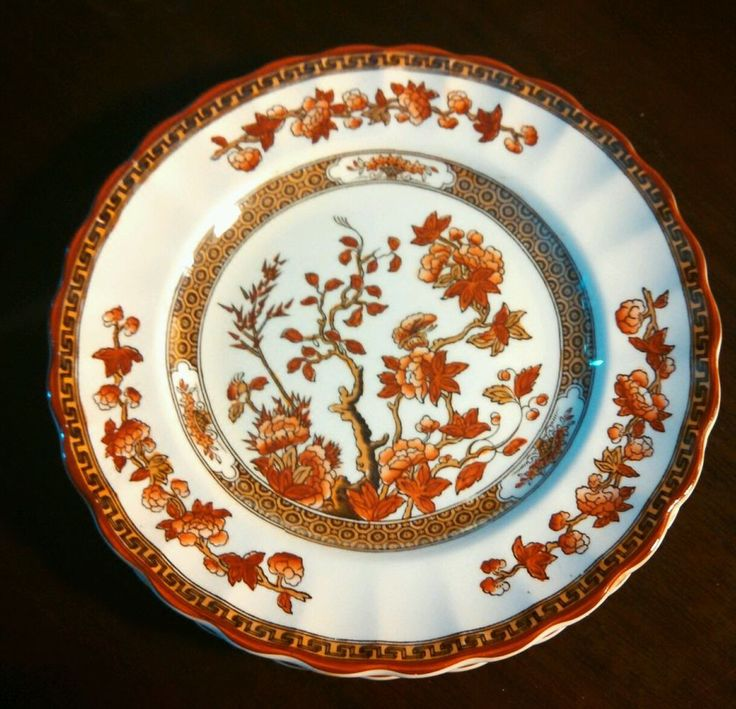 copeland spode china india tree pattern 6 bread plates 65 diameter old mark - Thanksgiving China Patterns