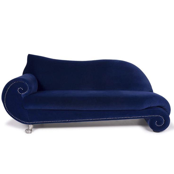 Bretz Gaudi Samt Sofa Blau Zweisitzer 11460 Samt Sofa Sofa Und