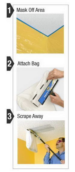 finally easily remove a popcorn ceiling with this new ceiling scraper, cleaning tips, diy, home maintenance repairs, tools, Easy as 1 2 3