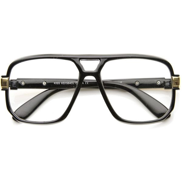 Retro 1980's classic square frame hip hop clear lens glasses 8975 ($13) ❤ liked on Polyvore featuring accessories, eyewear, eyeglasses, lens glasses, retro eye glasses, retro clear glasses, clear glasses and 1980s glasses