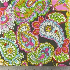 Pretty Paisley Fabric by the Yard Quilting Designer Cotton Apparell Children Fabric. $8.99, via Etsy.