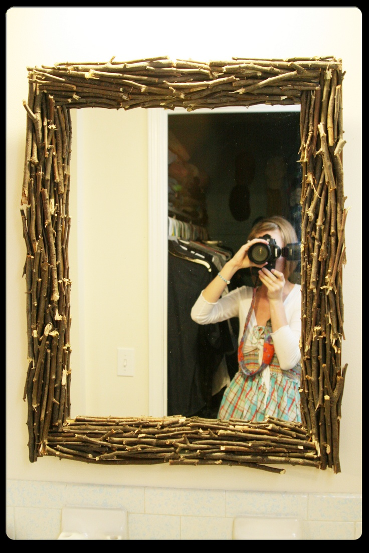 I need to do that to a mirror some day. Such a fun and cost FREE project. You guys should totally follow her blog. She is just super cute and share lots of fun ideas over there!!
