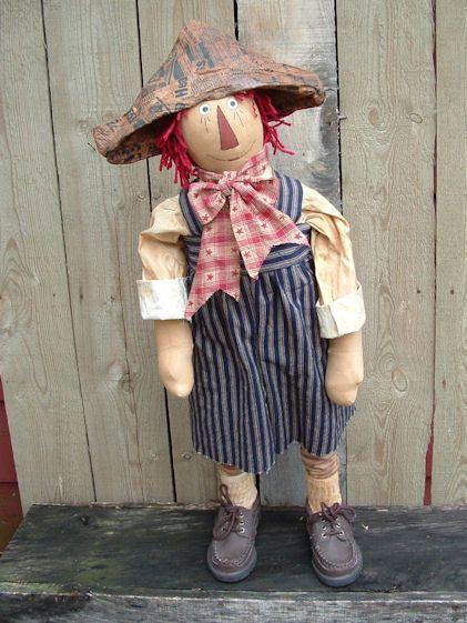 PatternMart.com ::. PatternMart: standing Raggedy boy doll pdf pattern-346