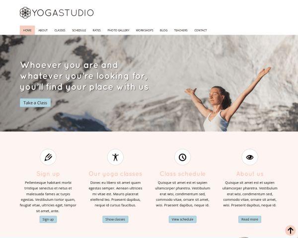 Yoga Studio Website Template thumbnail of desktop screenshot