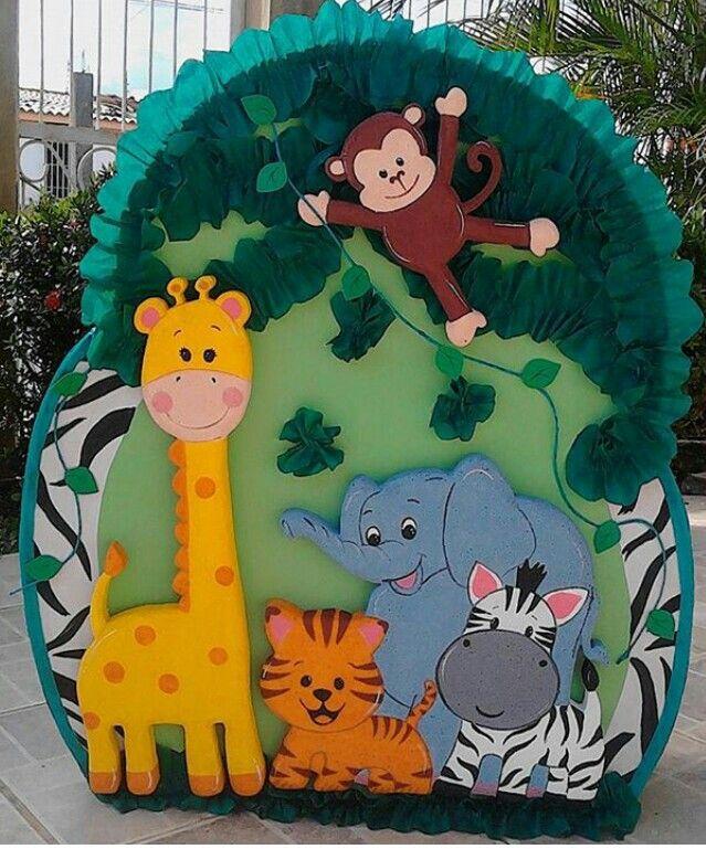 Piñata animalitos de la selva