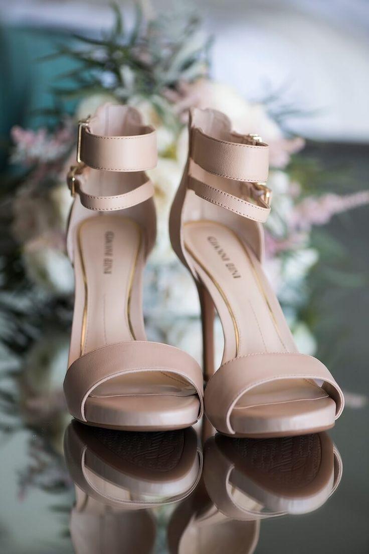 Perdido Beach Resort Wedding - Muted tan bridal shoes