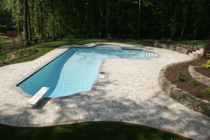 29 best images about l shaped pool on pinterest gunite for Average square footage of a pool