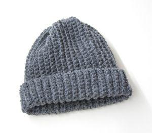 Free Crochet Pattern: Adult's Easy Crochet Hat  Lion Brand® Wool-Ease®  Pattern #: L20405