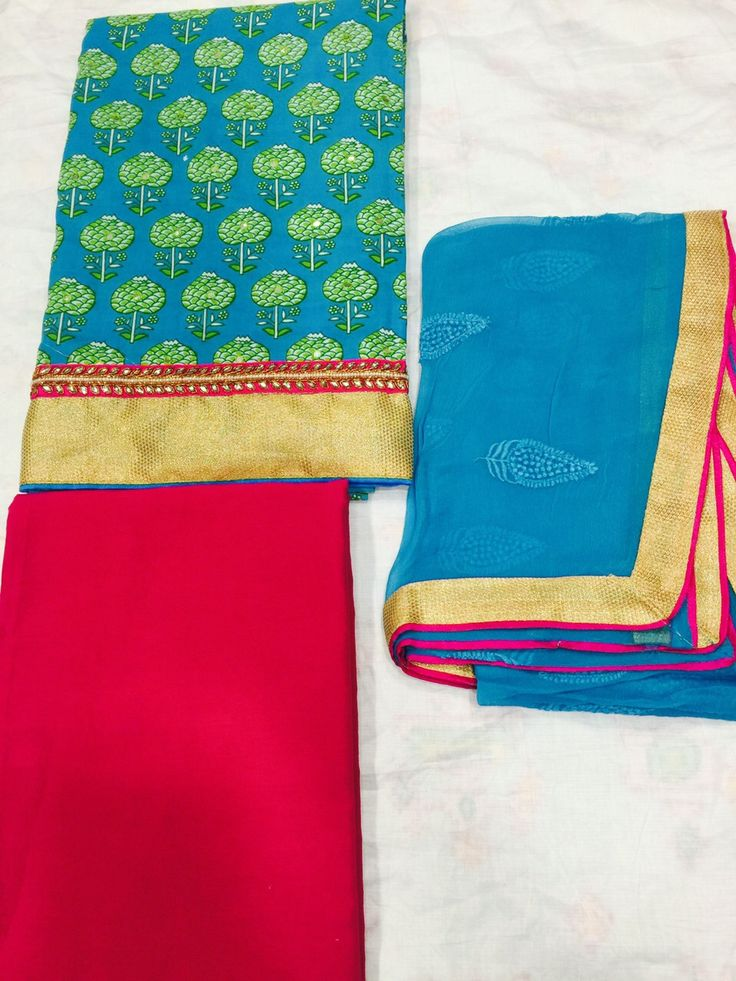 Fancy Cotton Dress Material. To buy pls whatsapp on 9425004989