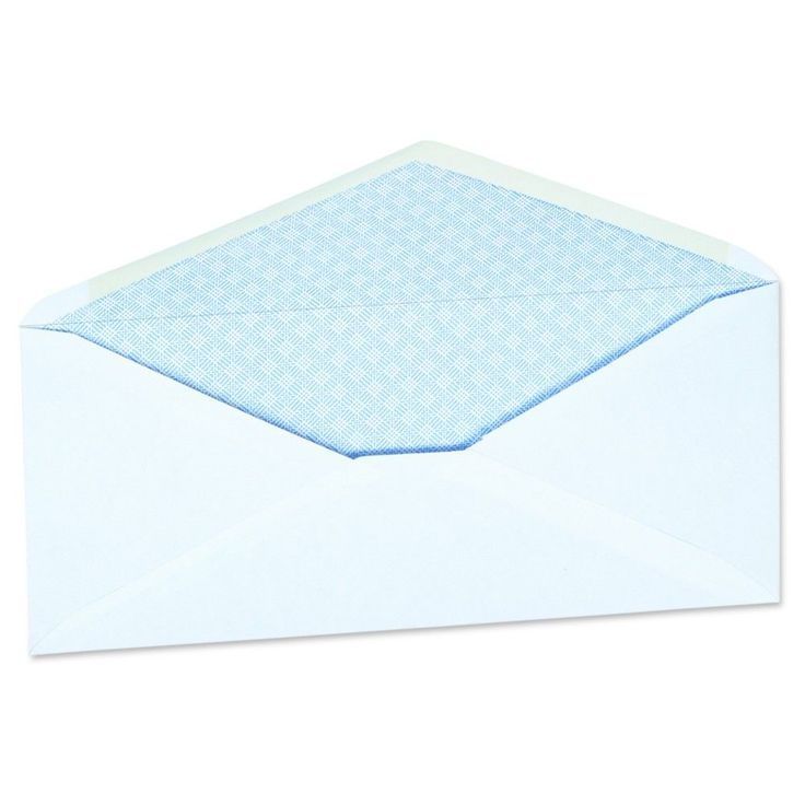 Universal Security Tinted Window Business Envelope, #10, 4 1/8 x 9 1/2, White, 500/Box (35203), Security Tinted V-Flap W/Window