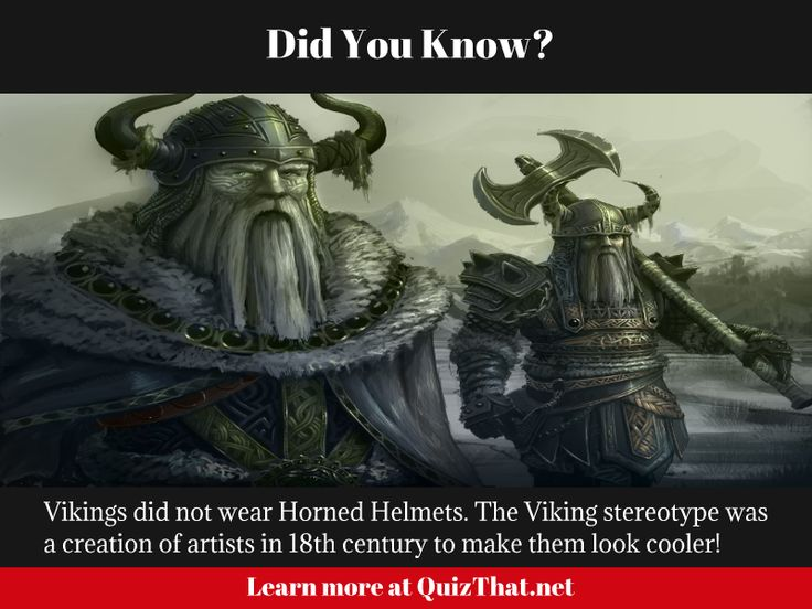 Did you know the Viking helmet was a work of and artist and not real