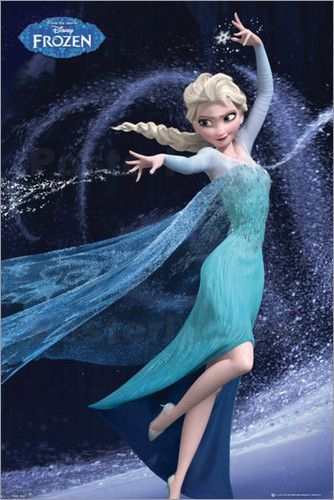Poster von Frozen - Elsa Let It Go