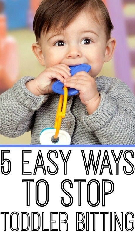 how to make a baby stop biting