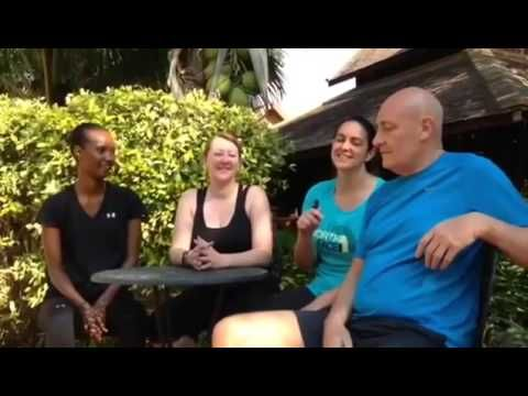 3 guests talk about their experience and result on our fitness retreats in Thailand. They all loved the variety of activities and would recommend Fresh Start to their friends and families. Thanks for the thumbs up guys and we wish you continued health and fitness success. If you want to know more about our holiday retreats, have a look at: http://www.thailandfitnessbootcamp.com/program/      #FitnessBootCamp #ChiangMai #exercise #health #workout #fitnesstrip #bootcamp