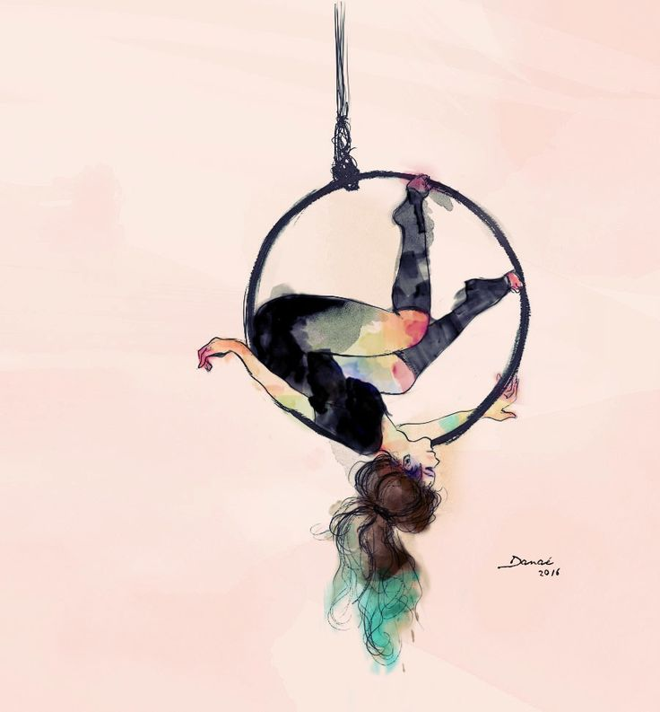 AerialHoop   Digital illustration, circus inspiration
