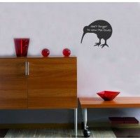 Kiwi Chalk Sticker - Wall sticker - Wall Decal - Kiwi - Kiwiana - New Zealand