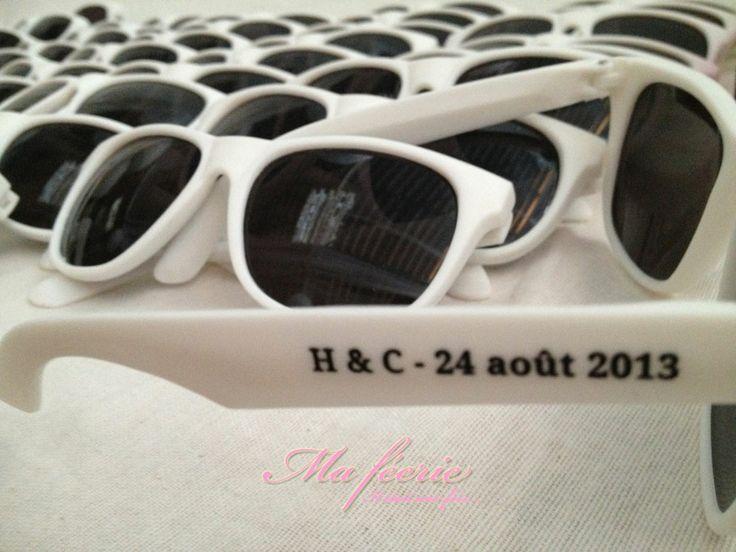 Des lunette personnalisées pour les invités