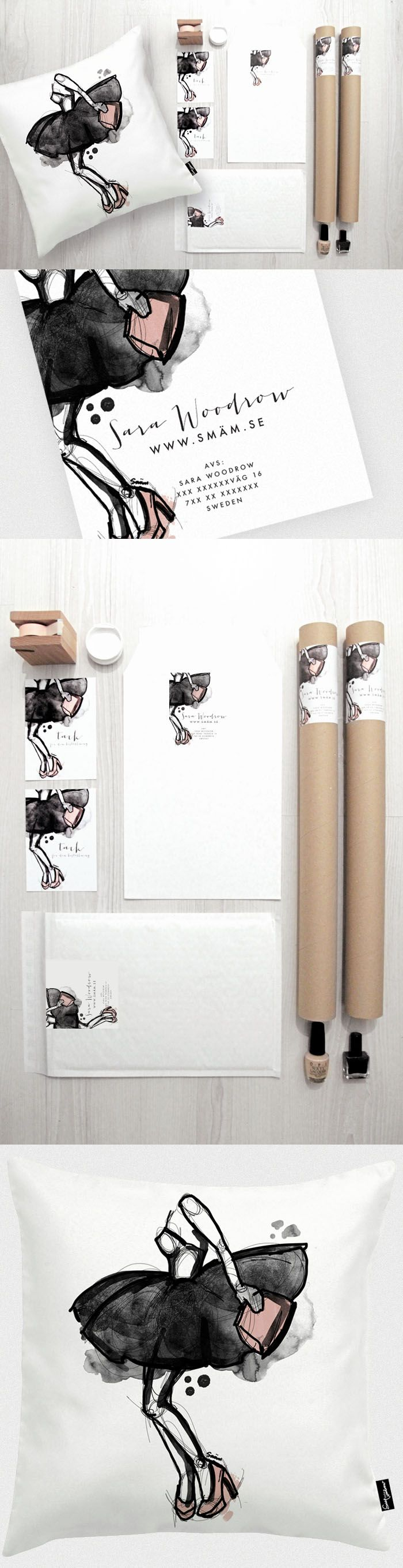 "Sara ""SMÄM"" Woodrow identity packaging branding. Oldie but goodie form the same designer. PD"